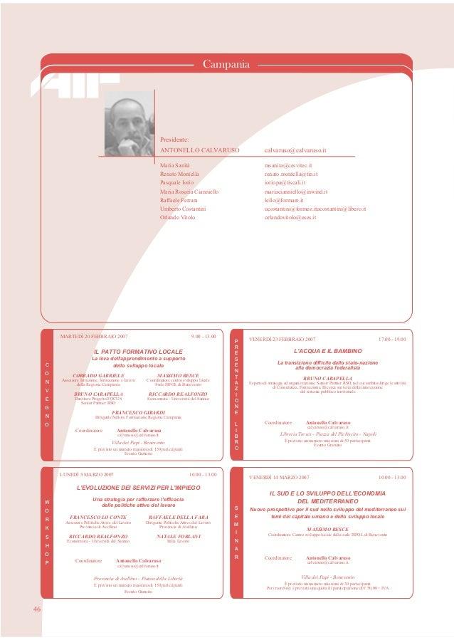 Aif   Campania - programma