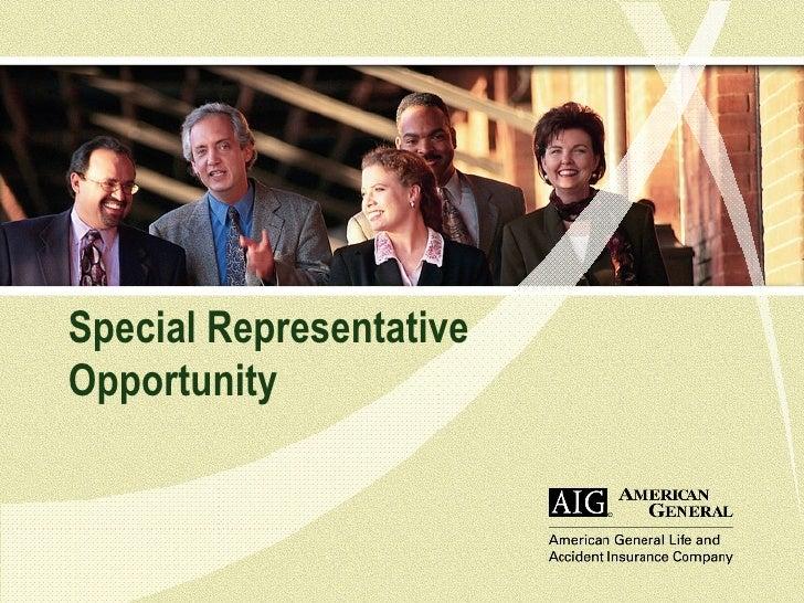 AIG AGLA Special Representative