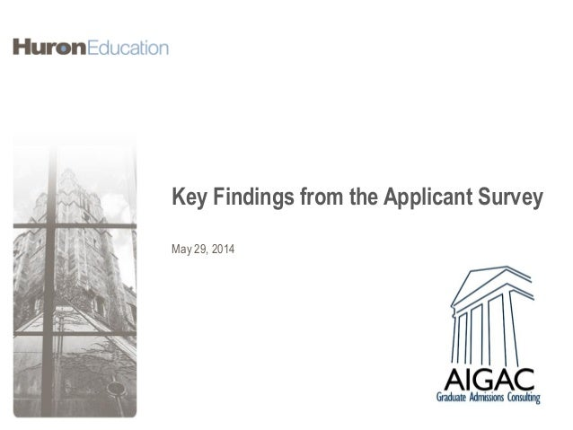 Key Findings from the Applicant Survey May 29, 2014
