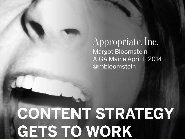 Content Strategy Gets to Work at AIGA Maine
