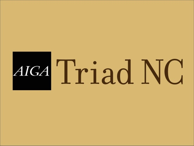 AIGA Triad NC Student Overview