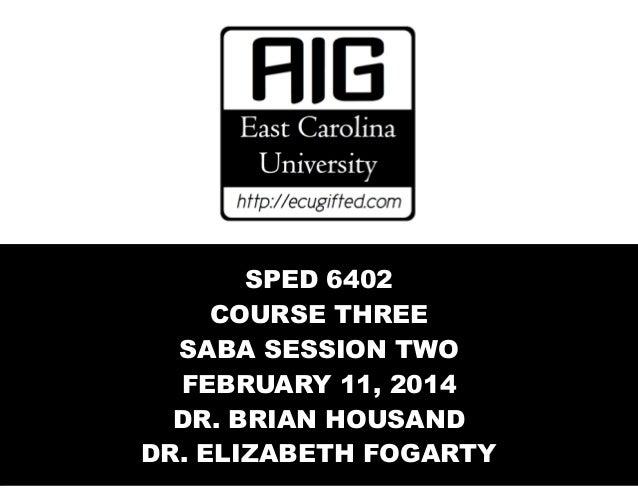 AIG Course 3 SABA Session TWO 2014