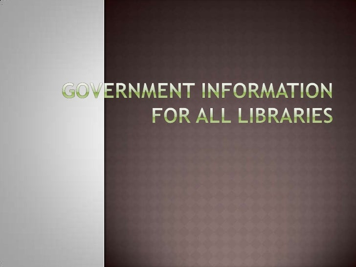  Changes in government publications and  access to the government   New   transparency & feedback mechanisms   Extends ...
