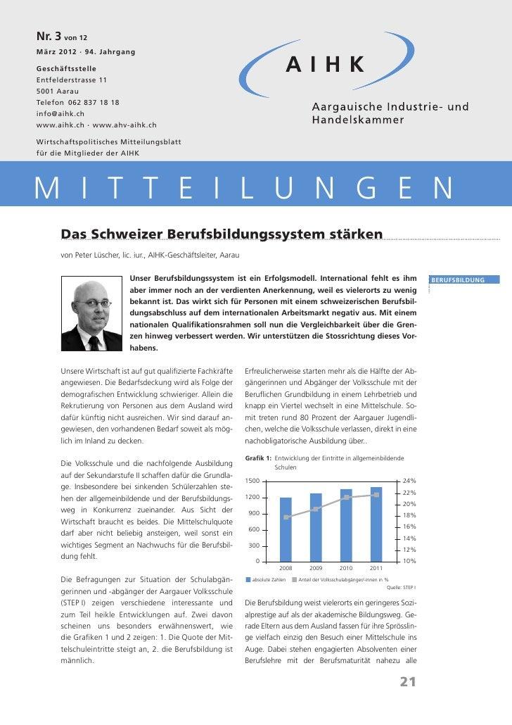 AIHK Mitteilungen 03 2012