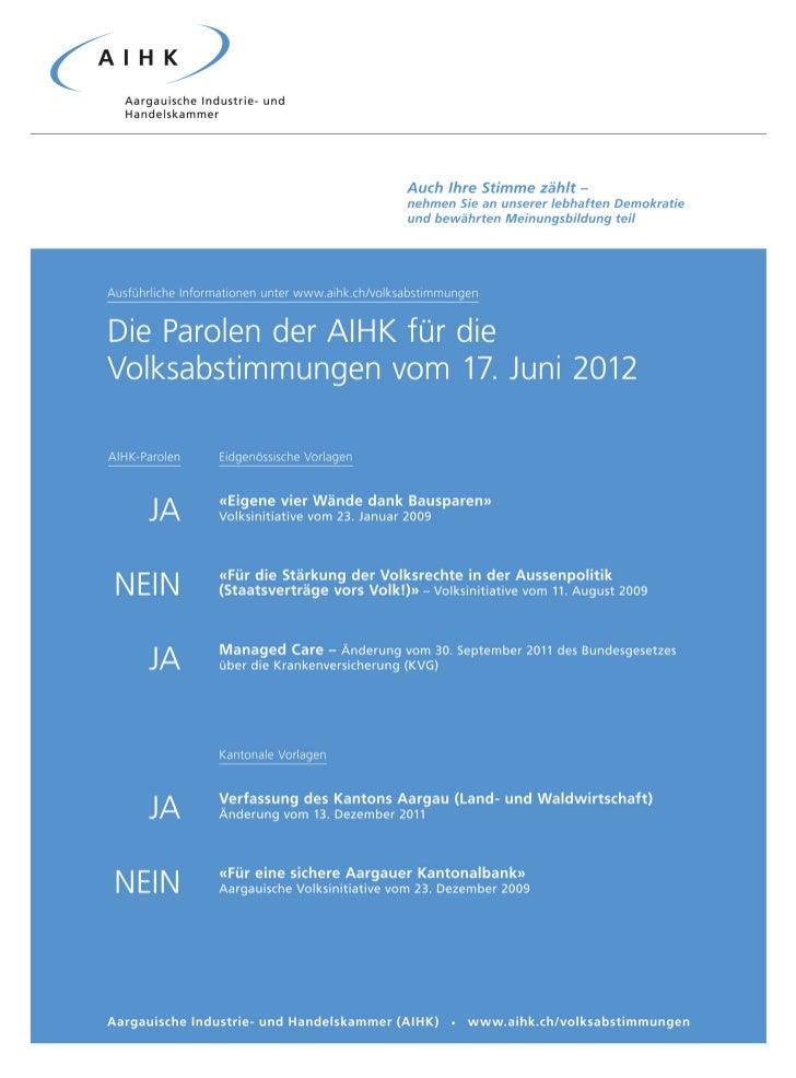 AIHK Volksabstimmung 17.06.2012