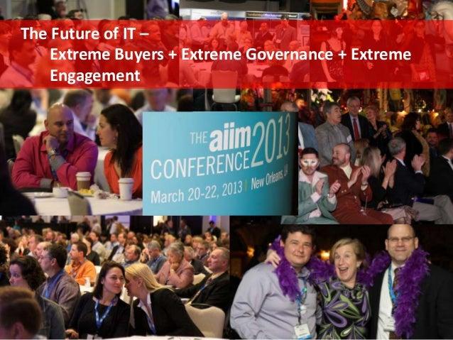 Extreme Buyers + Extreme Governance + Extreme Engagement