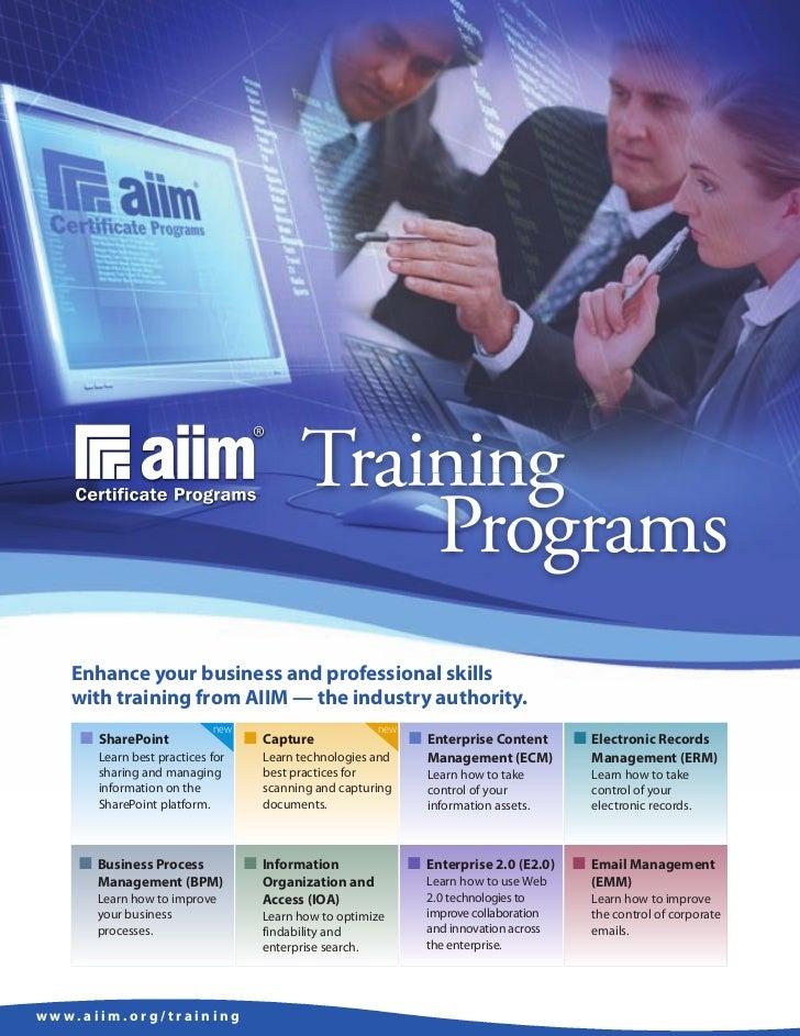 AIIM Training Brochure