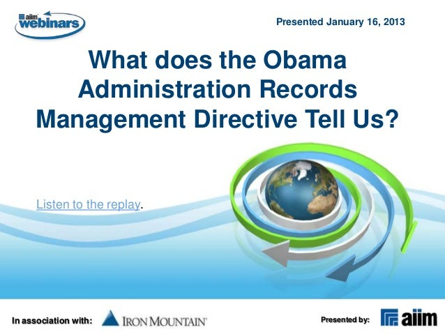 What does the Obama Administration Records Management Directive Tell Us?