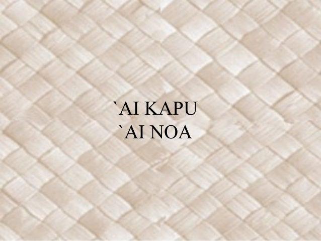 `AI KAPU `AI NOA