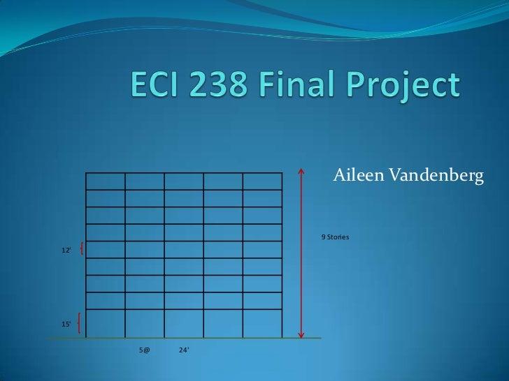 ECI 238 Final Project<br />Aileen Vandenberg<br />