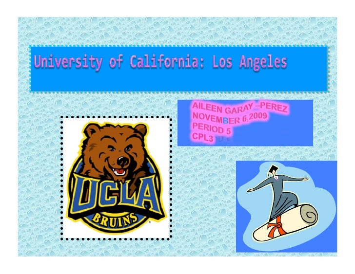 FACTS ABOUT UCLA    ✩ The  University of California, Los Angeles was founded in 1919 as a public, coeducational research ...