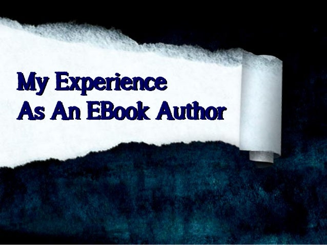 Author's Experience With Ebook Publishing