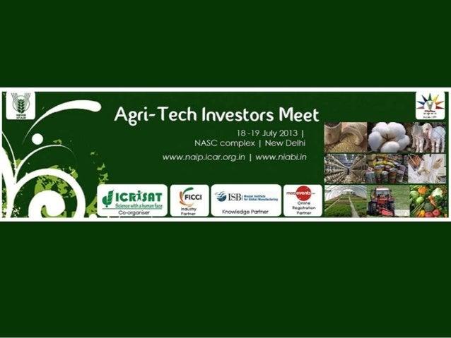 Agri-Tech Investors Meet | 18-19 July 2013