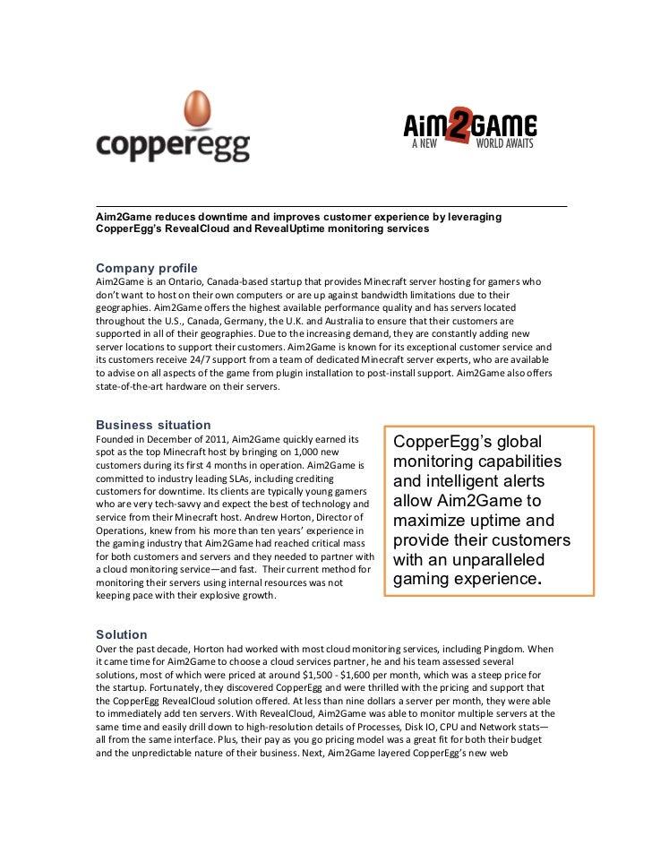 Aim2Game Cloud Monitoring Case Study