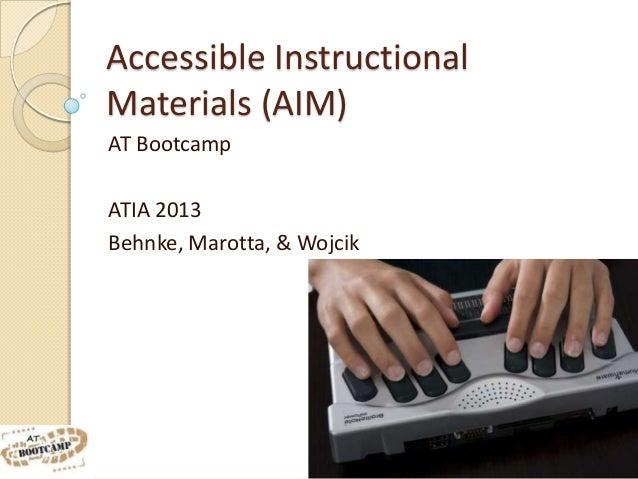 AT Bootcamp - AIM