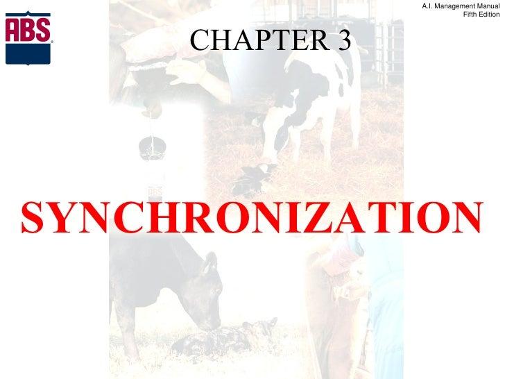 CHAPTER 3 <ul><li>SYNCHRONIZATION </li></ul>