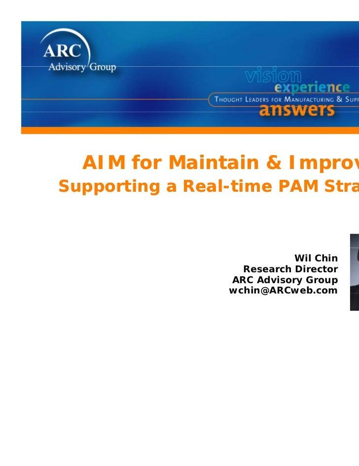 Aim for maintain & improve w chin arc 2008
