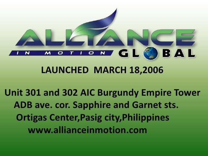 LAUNCHED  MARCH 18,2006<br /> Unit 301 and 302 AIC Burgundy Empire Tower<br />     ADB ave. cor. Sapphire and Garne...