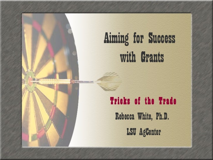 Aiming for Grant Success - Tricks of the Trade