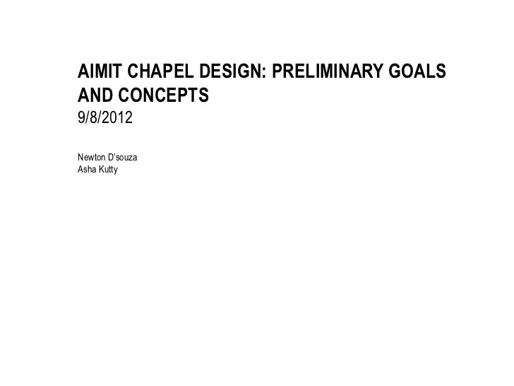 Aimit chapel project