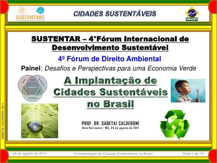 A implantação de cidades sustentáveis no brasil sabetai 13 3