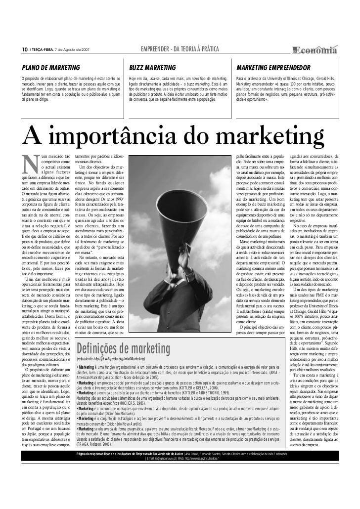 10     TERÇA-FEIRA, 7 de Agosto de 2007                                              EMPREENDER - DA TEORIA À PRÁTICAPLANO...
