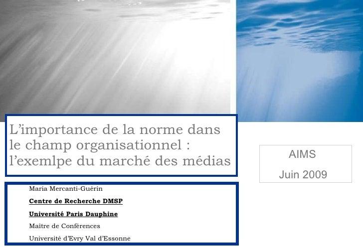 Maria Mercanti-Guérin Centre de Recherche DMSP Université Paris Dauphine Maître de Conférences Université d'Evry Val d'Ess...