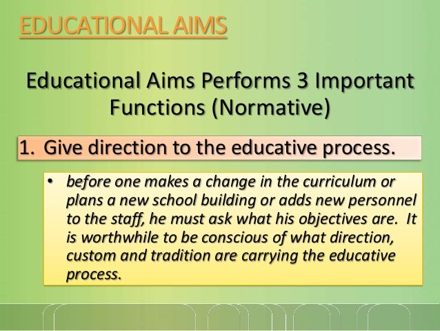 the aims of education pdf