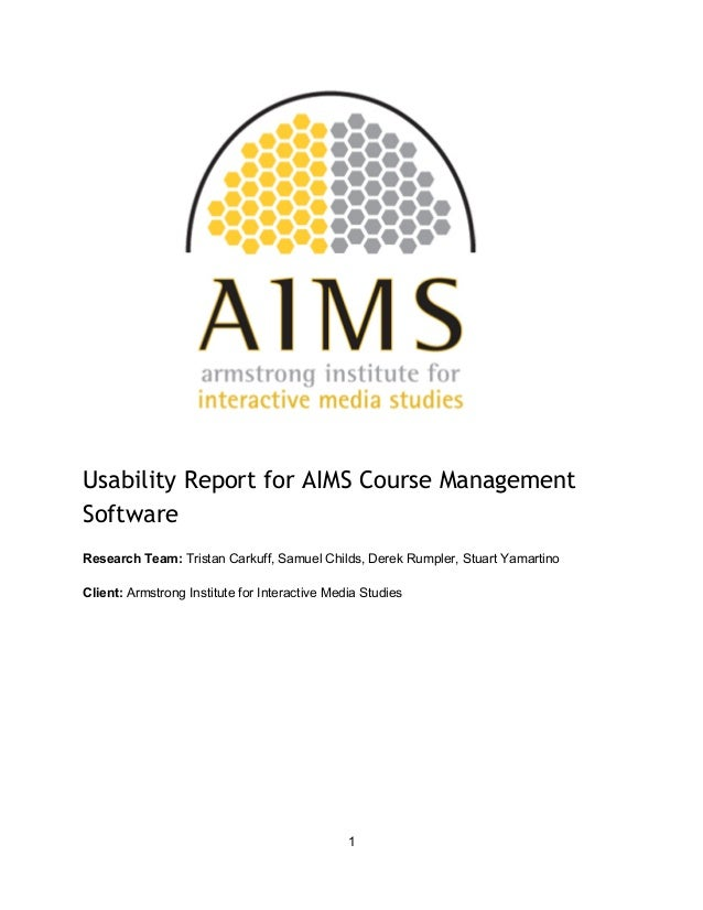 Aims course managementsoftwarereport (1)