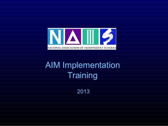 Aim training2013