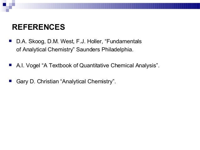 Quantitative Inorganic Analysis Vogel