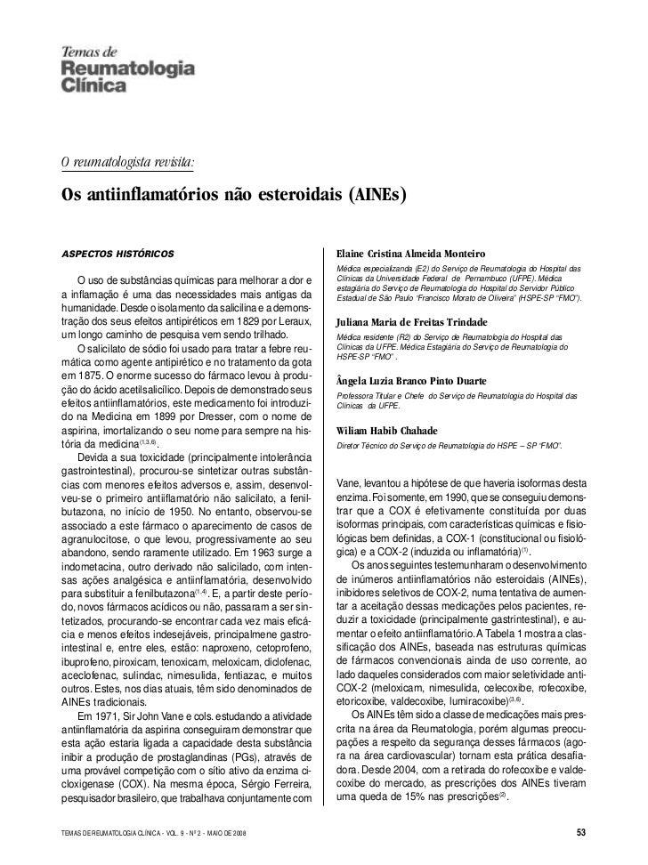 TEMAS DE                                                               REUMATOLOGIA CLÍNICAO reumatologista revisita:Os an...