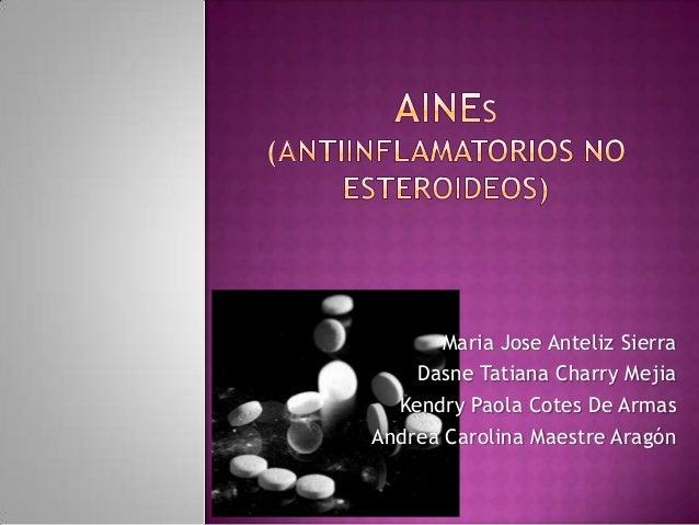 Aines  (antiinflamatorios no esteroideos) farmacologia