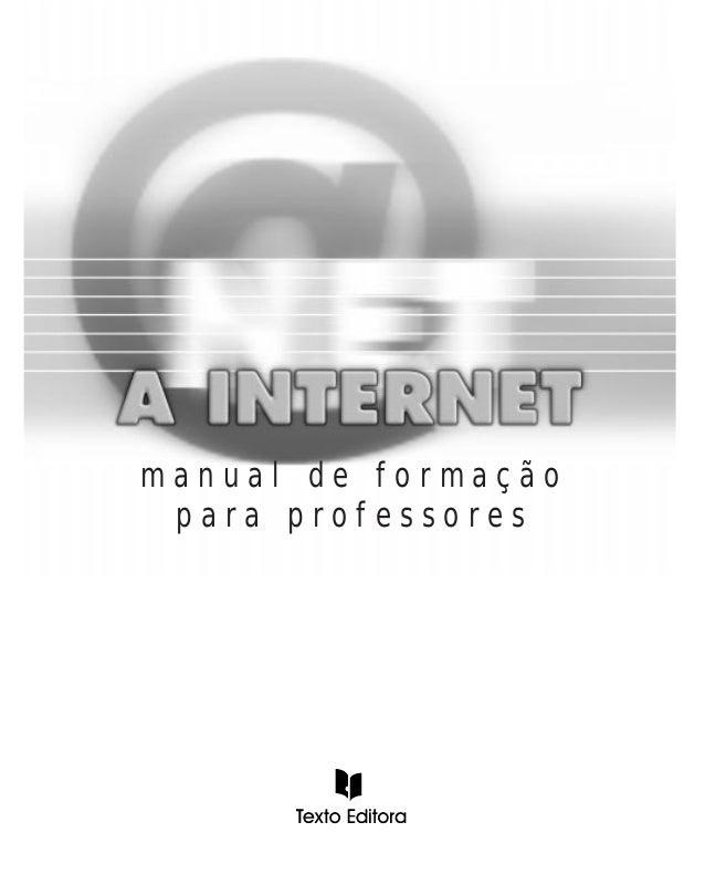 manual de formação para professores