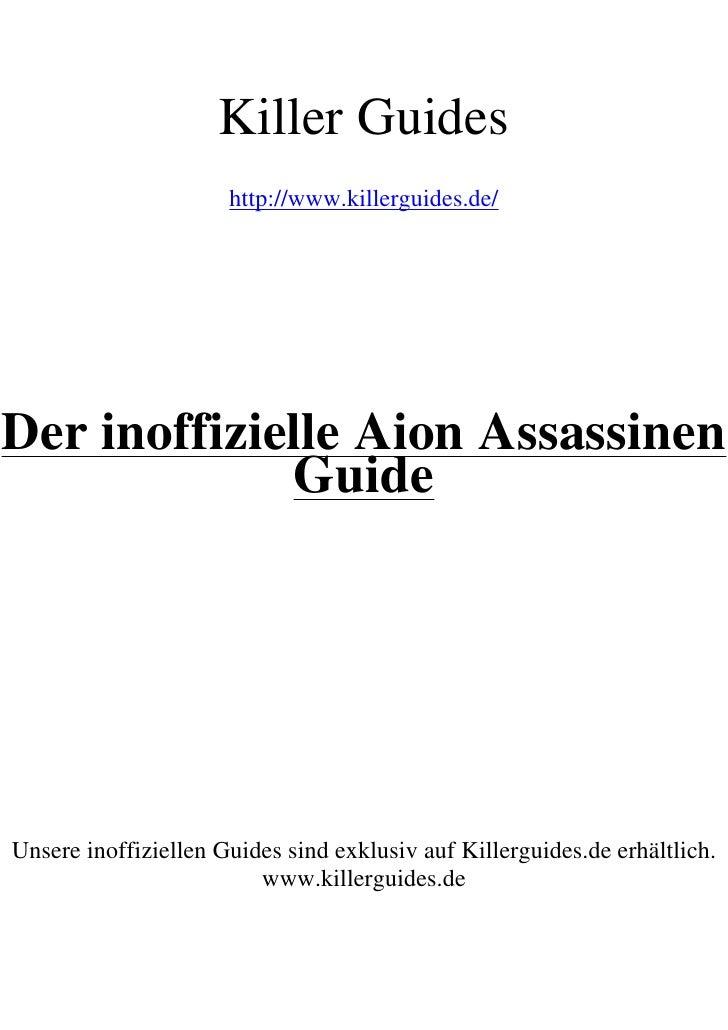 Aion Assasine Guide No Restriction