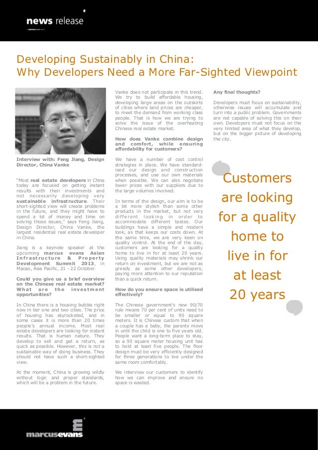 Interview with: Feng Jiang, Design Director, China Vanke