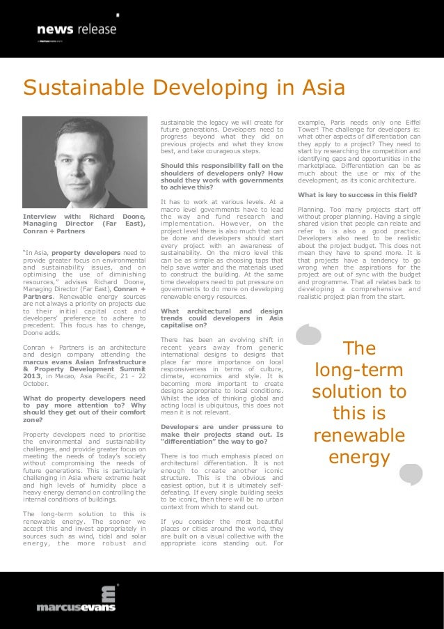"""Interview with: Richard Doone, Managing Director (Far East), Conran + Partners """"In Asia, property developers need to provi..."""