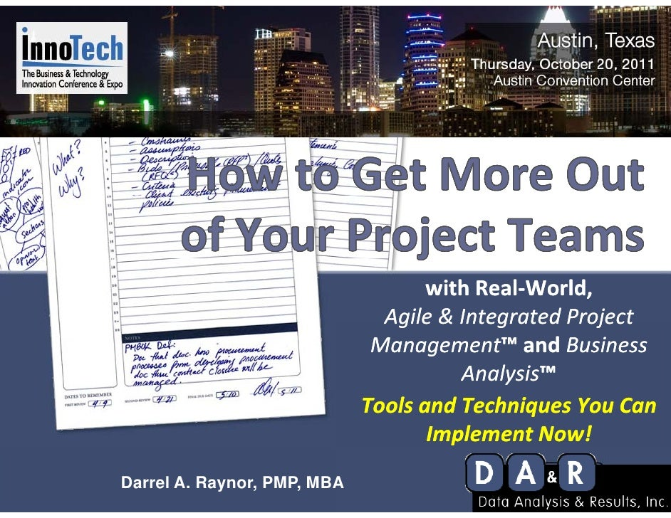 withReal‐World,                               Agile&IntegratedProject                               Agile & Integrate...