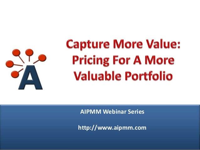 Webcast: Pricing For A More Profitable Product Portfolio