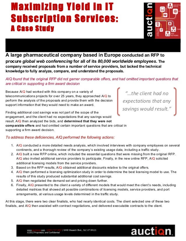 Maximizing Yield in IT Subscription Services - a case study by AIQ