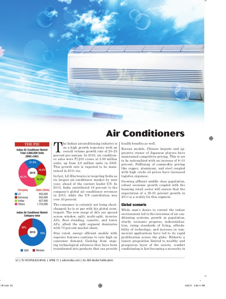 Air Conditioners                             T                                    he Indian airconditioning industry is   ...