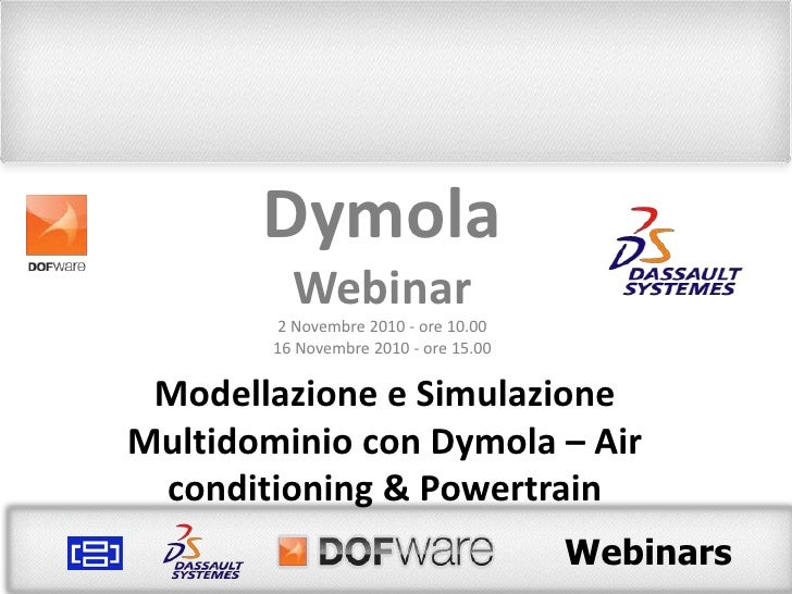 Webinar Dymola: Air conditioning e Powertrain