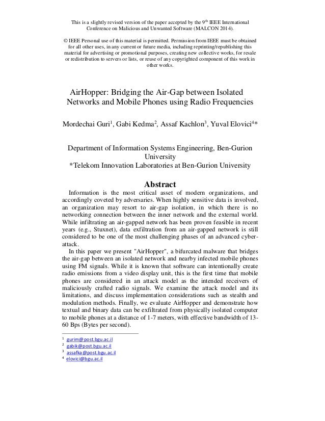 This is a slightly revised version of the paper accepted by the 9th IEEE International  Conference on Malicious and Unwant...