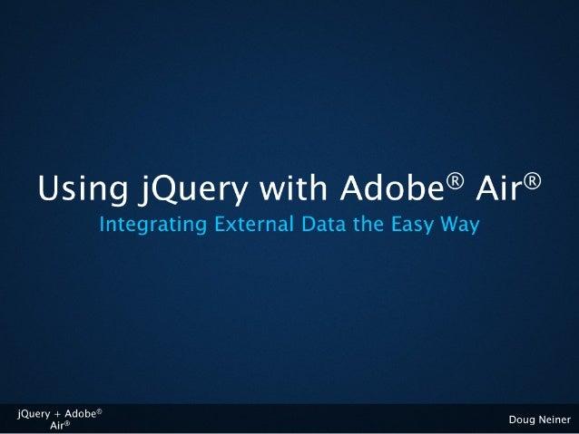 Air + jQuery: External Data
