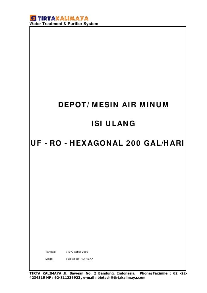 Water Treatment & Purifier System                      DEPOT/ MESIN AIR MINUM                                        ISI U...