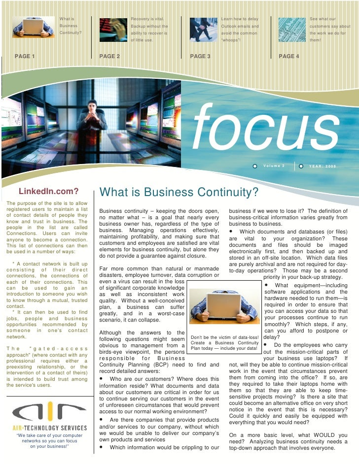 FOCUS Newsletter by AIR Technology Services