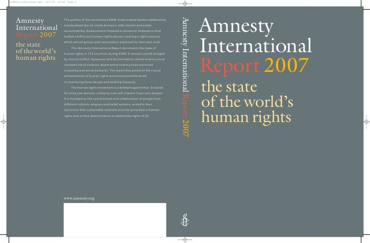 Amnesty International Report 2007