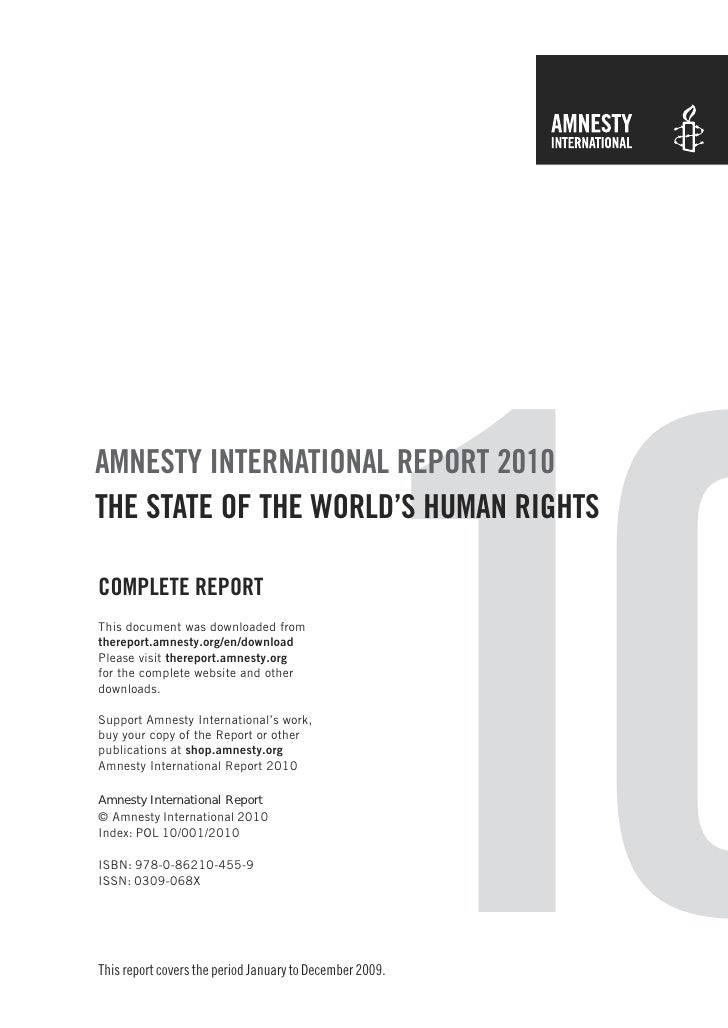 AMNESTY INTERNATIONAL REPORT 2010