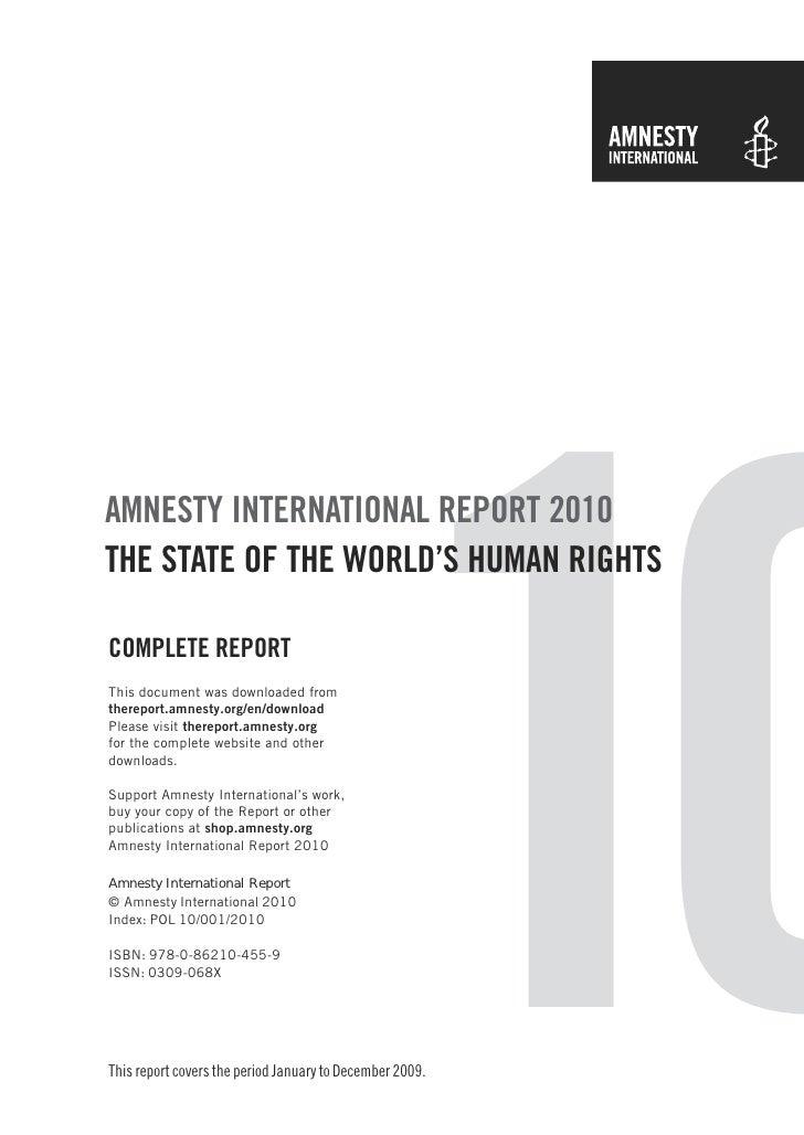 Amnesty International Report 2010