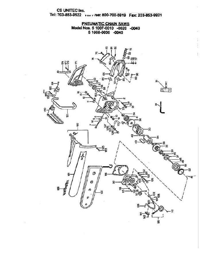 CS UNITEC                                            Pneumatic Chain Saws Model 5 1007 0010-0020-0040                     ...